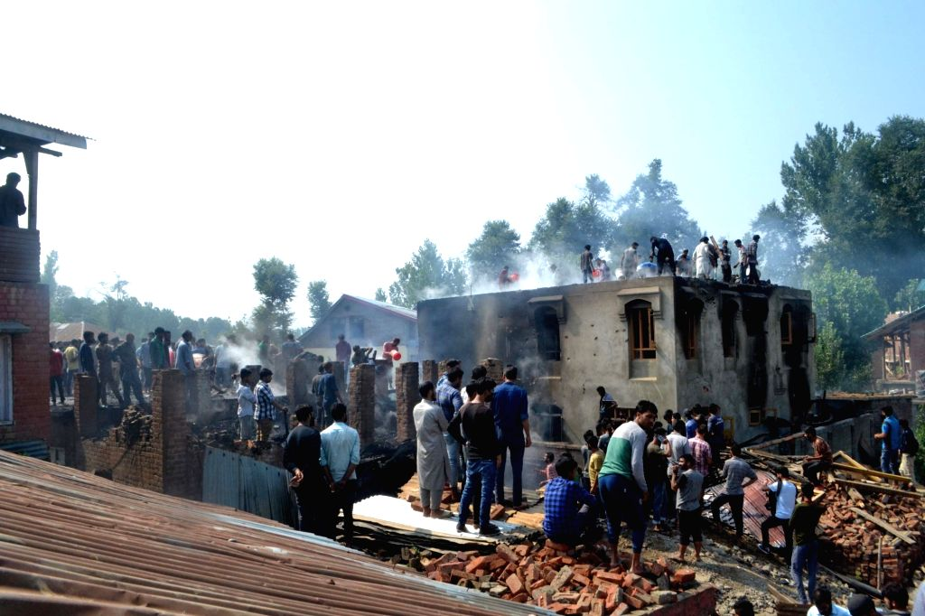 :Kulgam: The site of encounter where hiding militants, involved in killing of a police constable, had opened fire on the security forces, in Jammu and Kashmir's Kulgam district on July 22, ...
