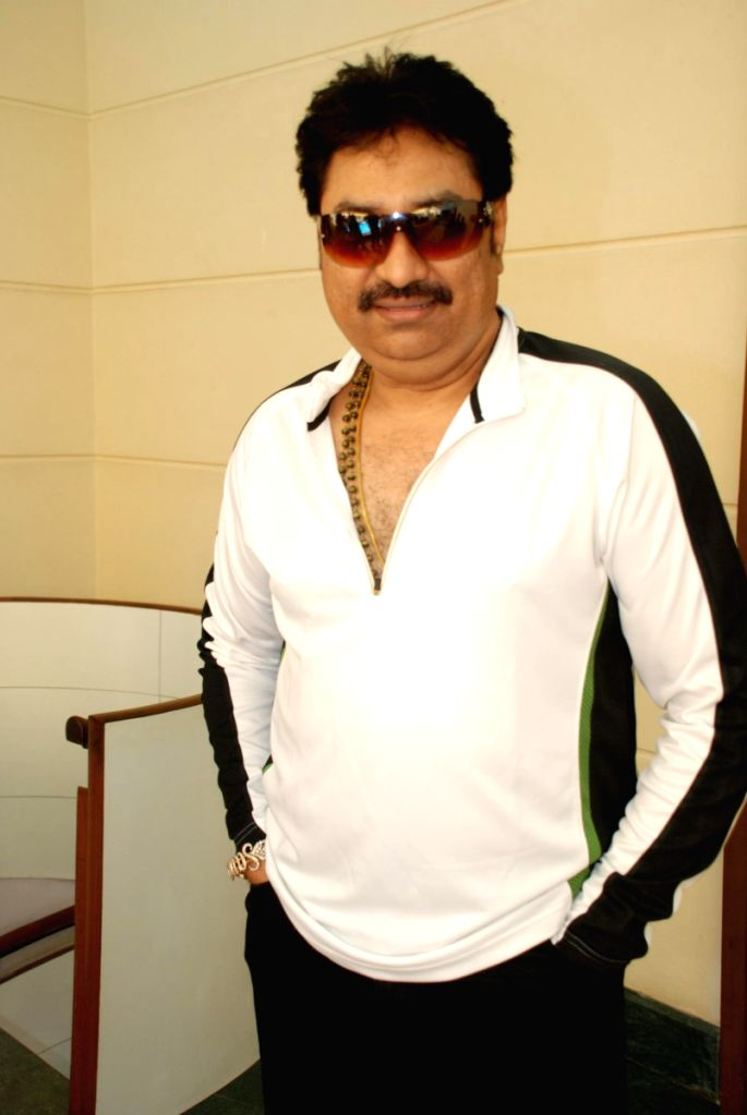 Kumar Sanu at the Bhojpuri film awards press meet.