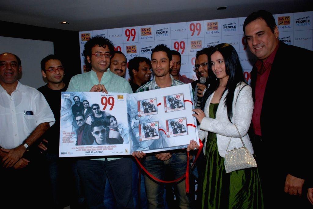 Kunal Khemu, Boman Irani and Simone Singh at the music launch of  film 99. - Boman Irani and Simone Singh