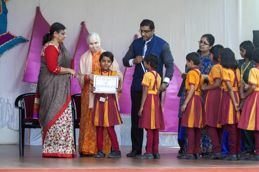 Students during a seminar organised as a part of the annual prize distribution ceremony of JKP Education at Jagadguru Kripalu Mahila College in Kunda on Feb 21, 2015.