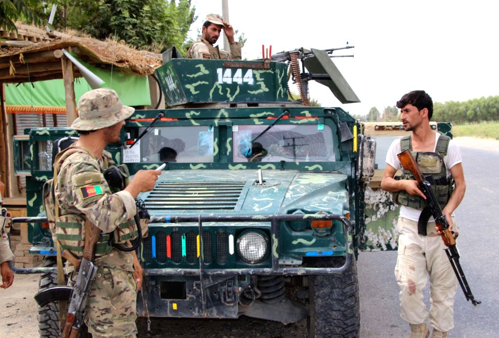 KUNDUZ (AFGHANISTAN), July 5, 2017 Afghan security force members take part in a military operation in Kunduz province, Afghanistan, July 5, 2017.