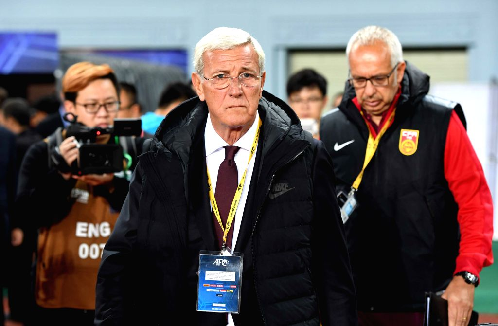 KUNMING, Nov. 15, 2016 - China's head coach Marcello Lippi enters the stadium before their Russia 2018 FIFA World Cup qualification match against Qatar in Kunming, southwest China's Yunnan Province, ...