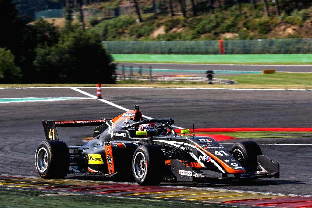 Kush Maini, backed by JK Racing and driving for M2 Competition, won the rookie category on the last lap of an exciting race in Belgium in Race 1 of the Formula Renault Eurocup Series.