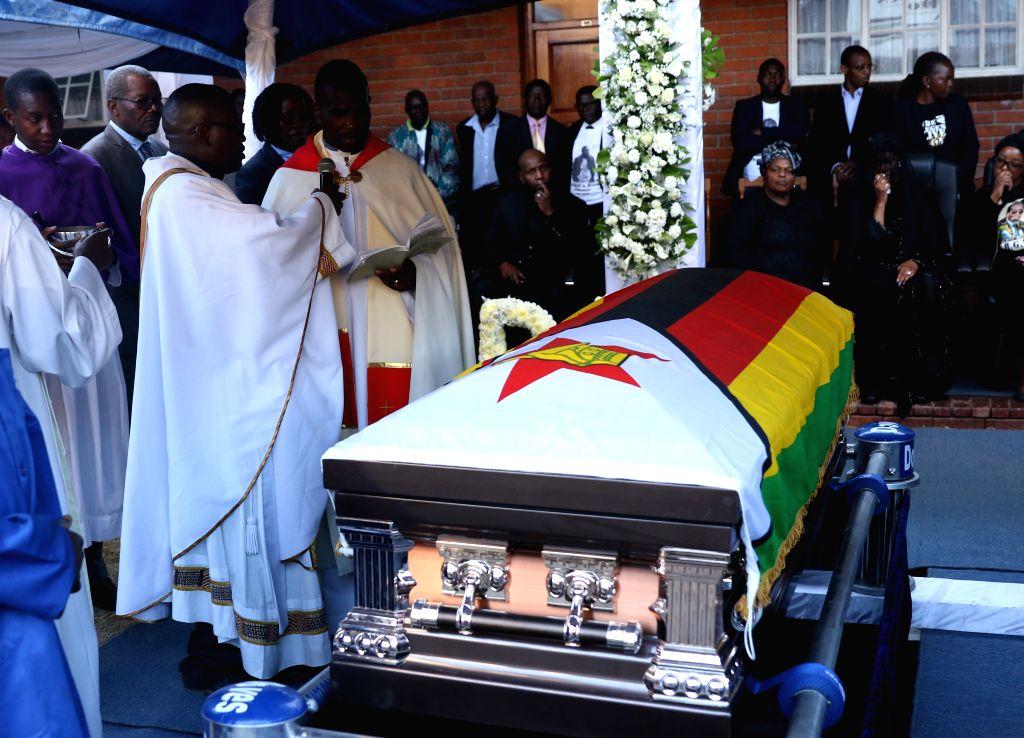KUTAMA (ZIMBABWE), Sept. 28, 2019 The burial of former Zimbabwean President Robert Mugabe is held in Kutama, Mashonaland West Province, Zimbabwe, on Sept. 28, 2019. Former Zimbabwean ...