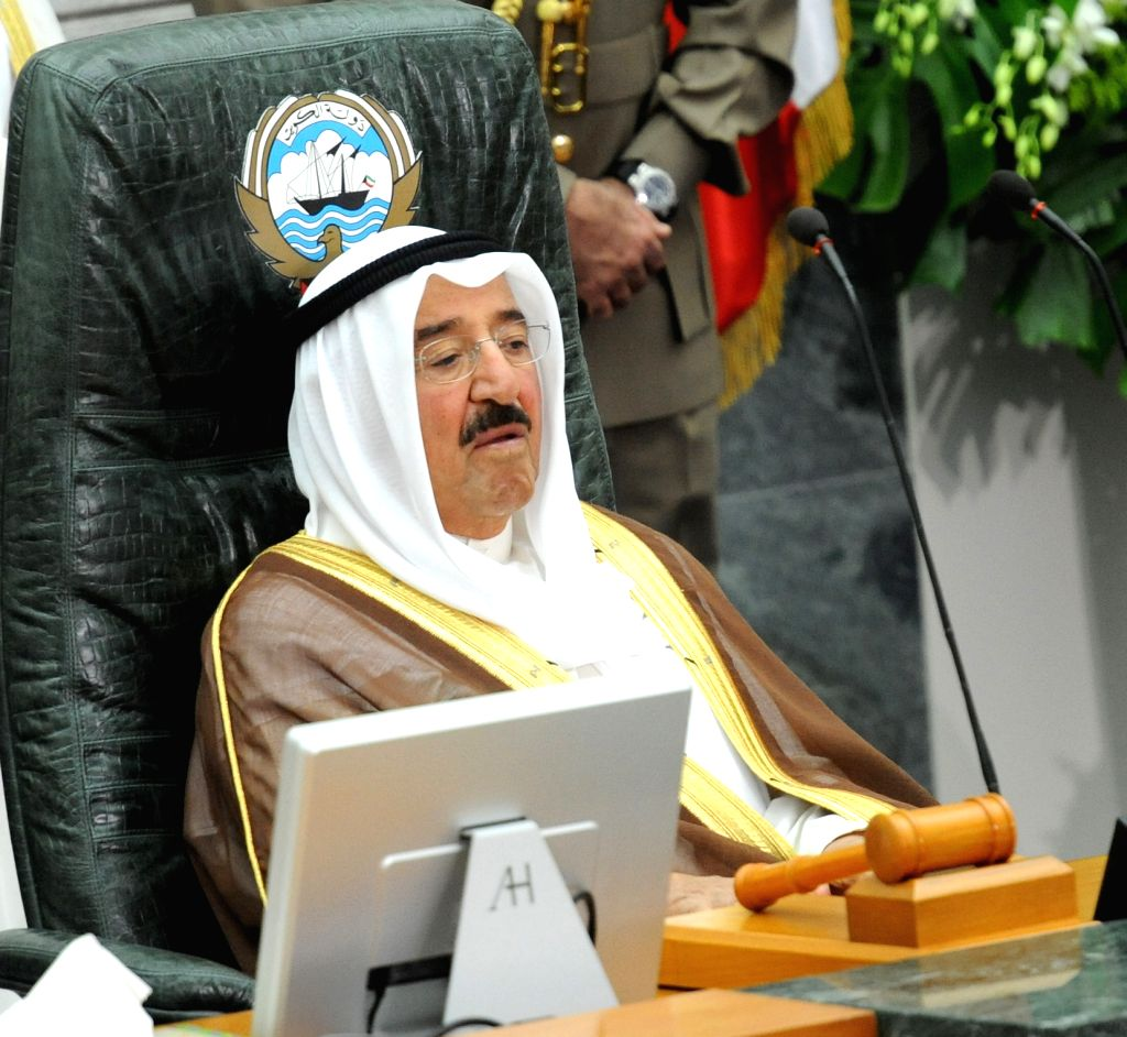 : KUWAIT CITY, Aug. 6, 2013 (Xinhua/IANS)Kuwaiti Emir Sheikh Sabah al-Ahmed al-Sabah attends the opening session of the newly elected parliament in Kuwait City, on Aug. 6, 2013. (Xinhua/Noufal ...