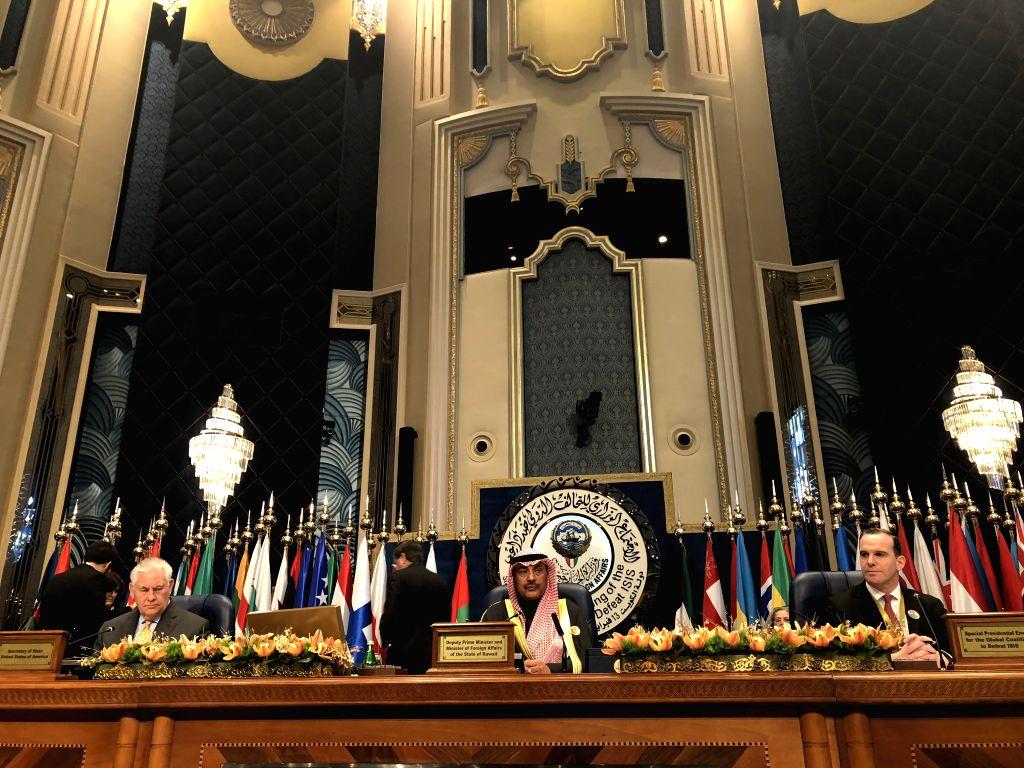 KUWAIT CITY, Feb. 13, 2018 - U.S. Secretary of State Rex Tillerson, Kuwaiti Deputy Prime Minister and Foreign Minister Sheikh Sabah Khaled Al-Hamad Al-Sabah and U.S. special envoy for the global ... - Sheikh Sabah Khaled A