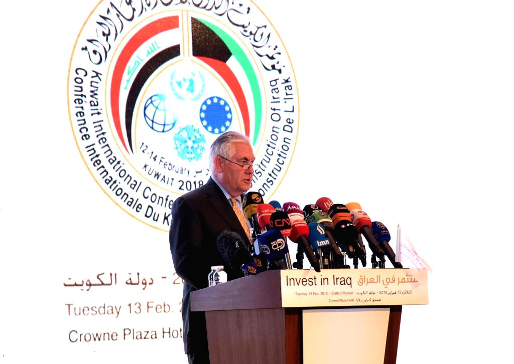 KUWAIT CITY, Feb. 13, 2018 - U.S. Secretary of State Rex Tillerson delivers a speech at a conference on investment in Iraq, in Kuwait City, Kuwait, on Feb. 13, 2018. The conference on investment in ...