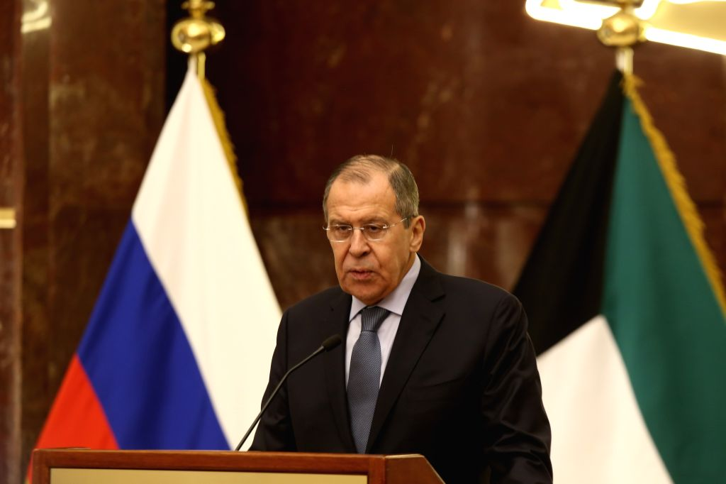 KUWAIT CITY, March 6, 2019 - Russian Foreign Minister Sergey Lavrov speaks at a press conference in Kuwait City, capital of Kuwait, on March 6, 2019. Russia supports all efforts of Kuwait and ... - Sergey Lavrov