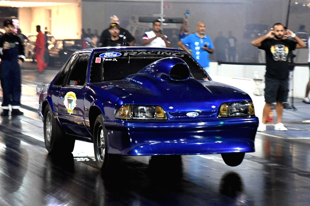 """KUWAIT CITY, Nov. 16, 2019 - A participant competes during the """"Kuwait Speed Racing Championship"""" in Kuwait City, Kuwait, Nov. 15, 2019."""