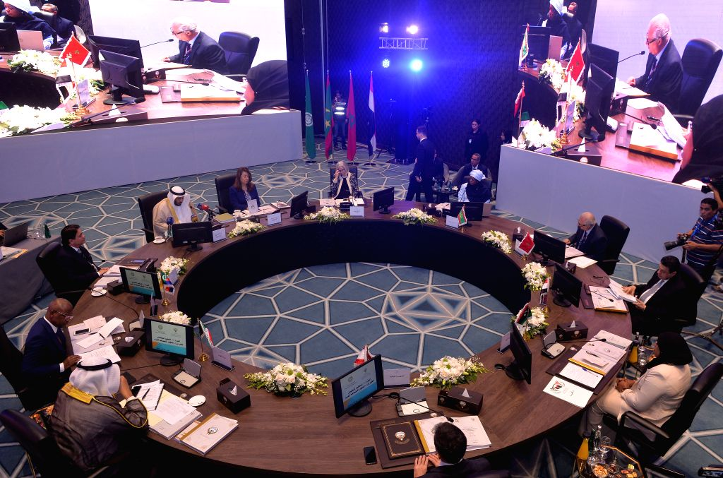 KUWAIT CITY, Oct. 16, 2019 - Participants attend the 73rd session of the Council of Arab Social Affairs Ministers in Kuwait City, Kuwait, on Oct. 16, 2019. Kuwaiti Minister of Social Affairs Saad ...