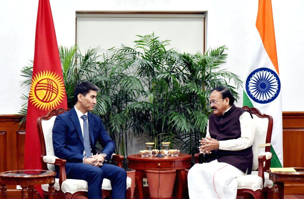 Kyrgyzstan Foreign Affairs Minister Aidarbekov Chingiz Azamatovich calls on Vice President M. Venkaiah Naidu in New Delhi, on Jan 28, 2019. - Aidarbekov Chingiz Azamatovich and M. Venkaiah Naidu