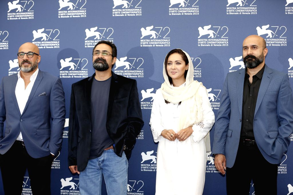 "(L-R) Actor Amir Aghaei, director Vahid Jalilvand, actress Niki Karimi and producer Ali Jalilvand pose during the photocall of the movie ""Wednesday, May 9"" ... - Amir Aghaei"