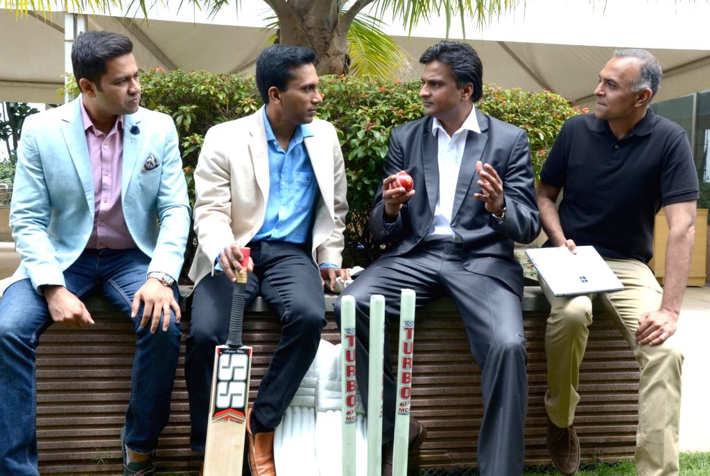 (L to R) Aakash Chopra, Joseph Sirosh, Javagal Srinath and Meetul Patel at Microsoft's Machine Learning and Data Sciences Conference in Bengaluru, on Aug 8, 2016. - Aakash Chopra and Meetul Patel