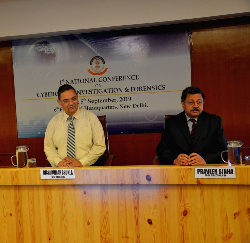 (L to R) CBI Director Rishi Kumar Shukla and Additional Director Praveen Sinha during the inauguration of the 1st National Conference on Cyber Crime Investigation and Cyber Forensics at ... - Rishi Kumar Shukla and Praveen Sinha