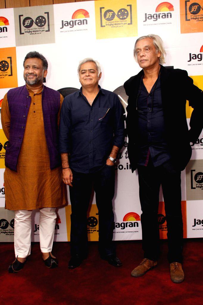 (L to R) Directors Anubhav Sinha, Hansal Mehta and Sudhir Mishra at the inanugural of 5th Jagran Film Festival, in New Delhi on July 5, 2014. - Anubhav Sinha, Hansal Mehta and Sudhir Mishra