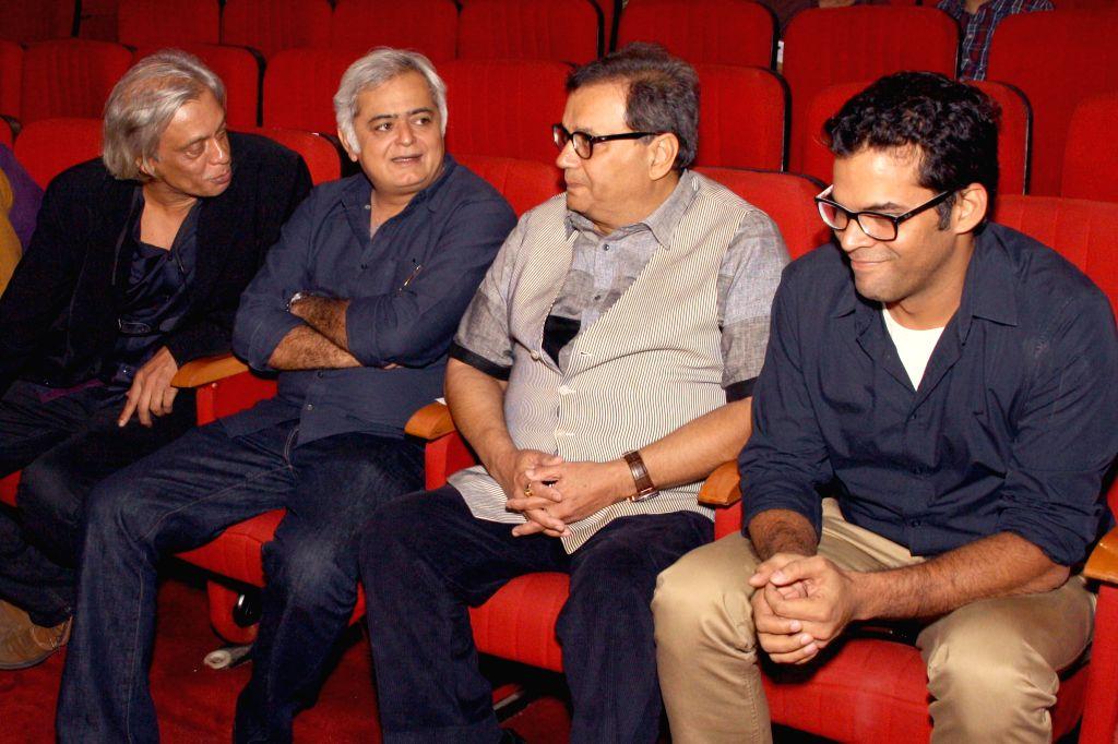 (L to R) Directors Sudhir Mishra, Hansal Mehta, Subhash Ghai and Vikramaditya Motwane at the inanugural of 5th Jagran Film Festival, in New Delhi on July 5, 2014. - Sudhir Mishra and Hansal Mehta