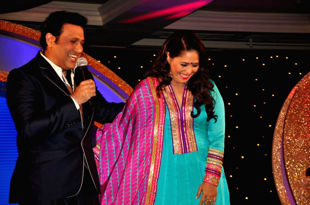 (L to R) Namit Sharma, Programming Head, Zee TV, actor Govinda, Choreographer Geeta Kapoor and Television actor Karan Wahi during the announcement of Zee TV reality show, Dance India Dance Super Mom ... - Govinda, Namit Sharma and Geeta Kapoor