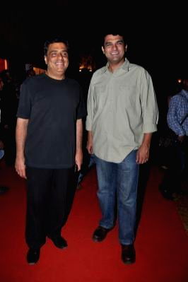 : (L to R) Producers Ronnie Screwvala and Siddharth Roy Kapoor at the trailer launch of film Himmatwala in Mumbai. (Photo: IANS).