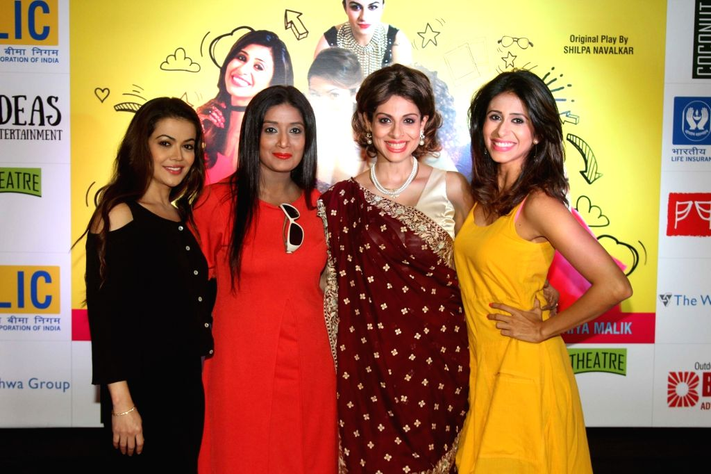 (L to R) Television actors Shweta Gulati, Dimple Shah, Tanaaz Irani and Kishwer Merchant during the premiere of English play Selfie in Mumbai, on August 12, 2016. - Shweta Gulati, Dimple Shah, Tanaaz Irani and Kishwer Merchant