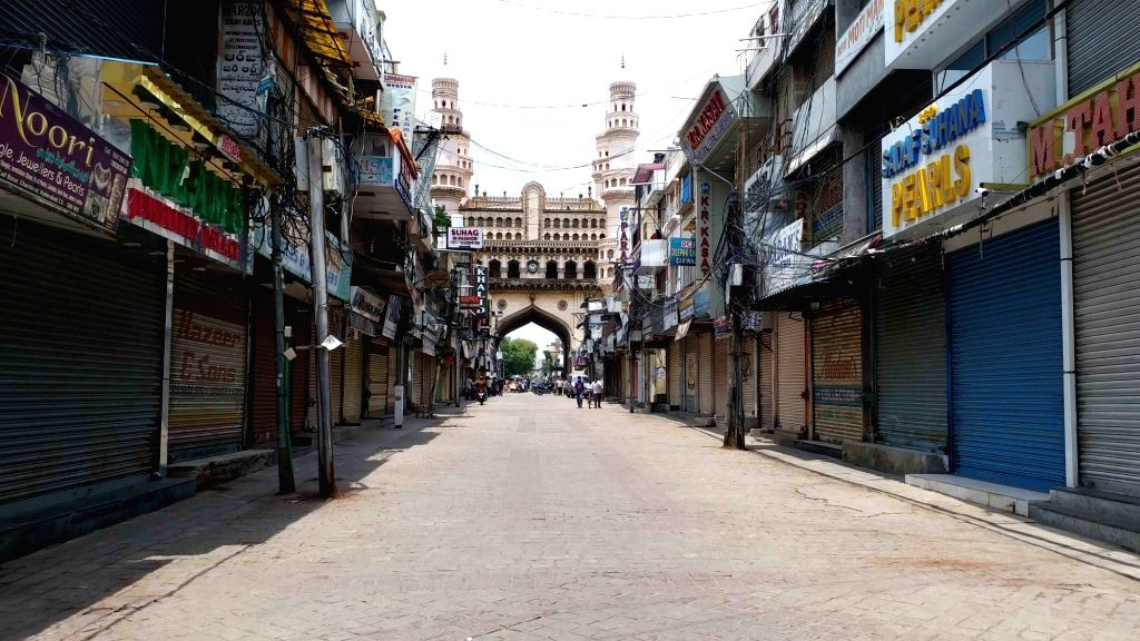 Lad Bazar remains closed during a strict lockdown that has been re-imposed across the city to contain the spread of COVID-19 and reduce the pandemic cases, on June 26, 2020.