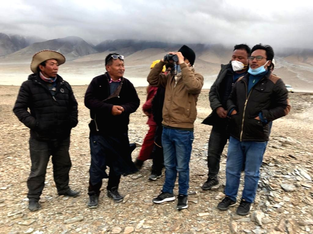 Ladakh MP Namgyal visits people living near LAC, promises safety.