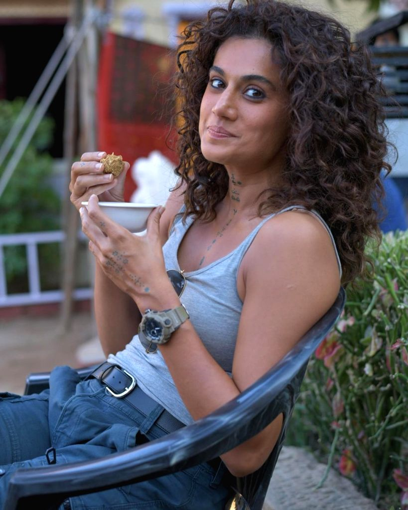 Laddoos' work more for Taapsee Pannu than protein bars.(photo: instagram)