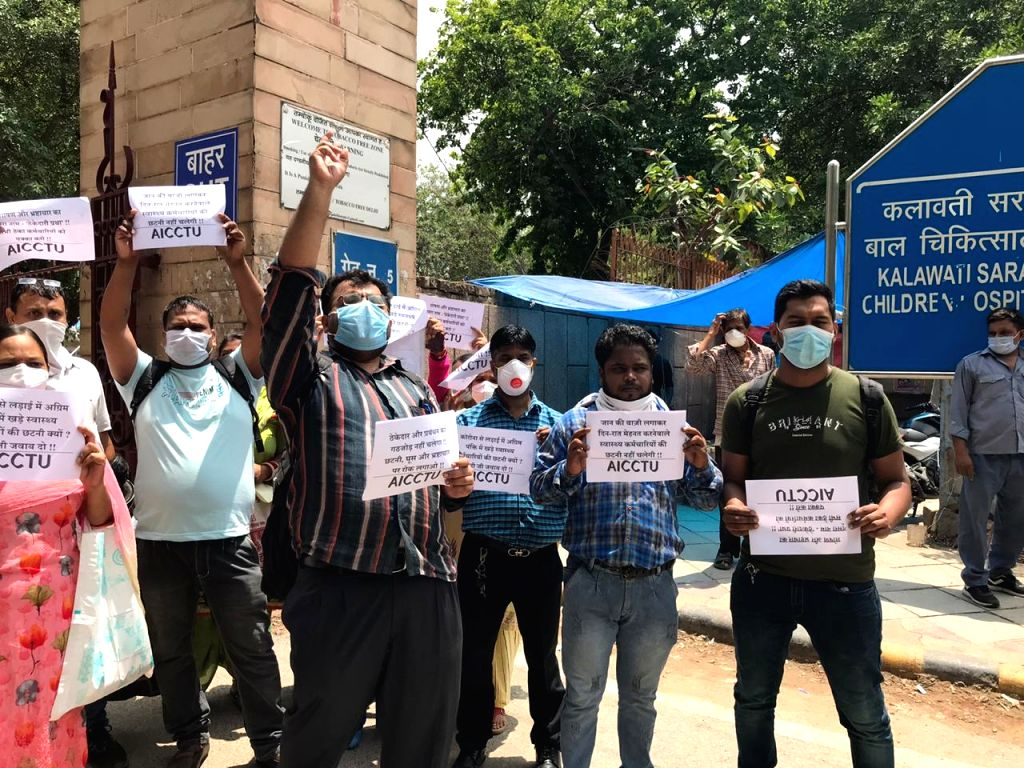 Lady Hardinge staff protest abrupt termination, allege extortion for rehiring (IANS Special).