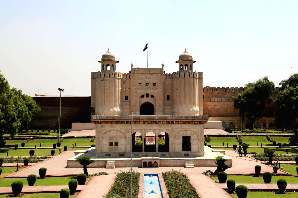 LAHORE, April 27, 2017 - Photo taken on April 26, 2017 shows a view of the Lahore Fort, or Shahi Qila in Urdu, in Lahore, east Pakistan. The Lahore Fort, listed by the UNESCO as a world heritage in ...