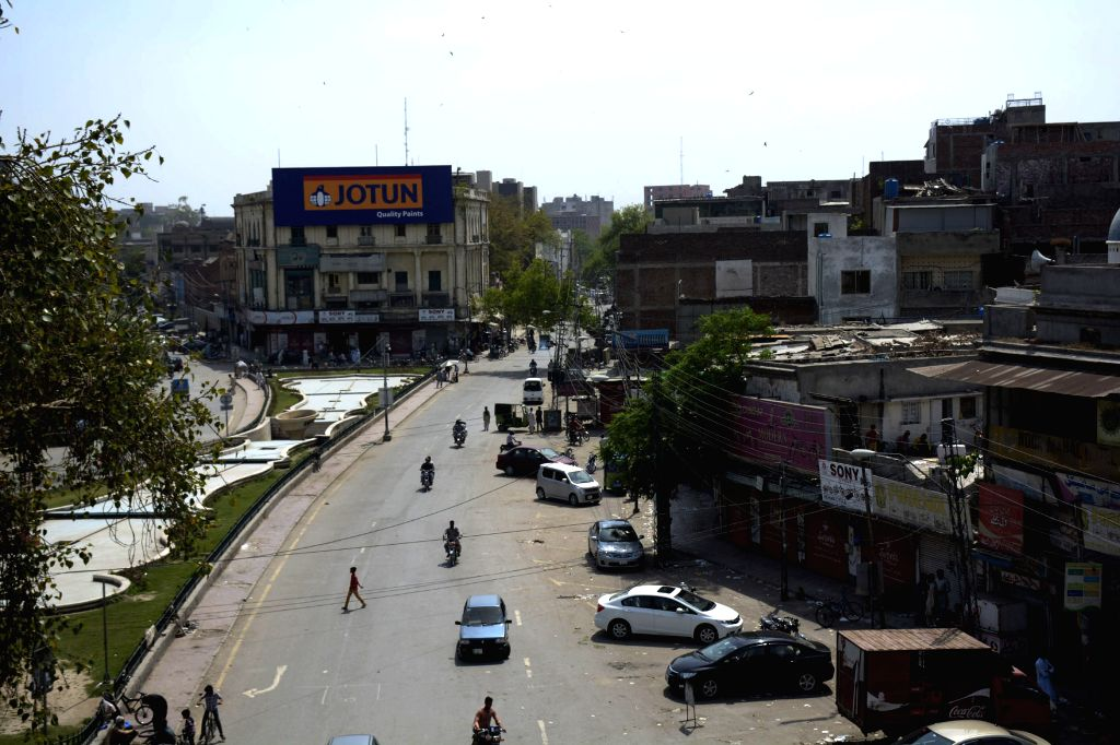 LAHORE, March 29, 2016 - A closed market is seen during the mourning day in eastern Pakistan's Lahore on March 28, 2016. Pakistani security forces have launched operations in parts of eastern Punjab ...