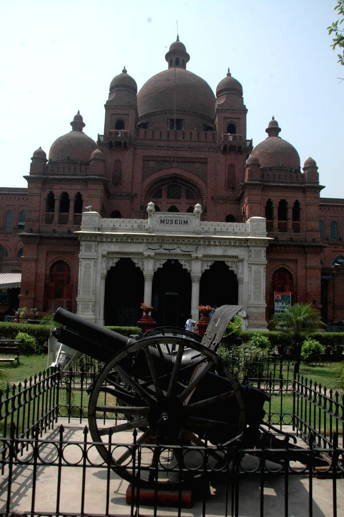 Photo taken on May 18, 2015 shows the Lahore Museum on International Museum Day in eastern Pakistan's Lahore. Lahore Museum is one of the major museums of South Asia ...