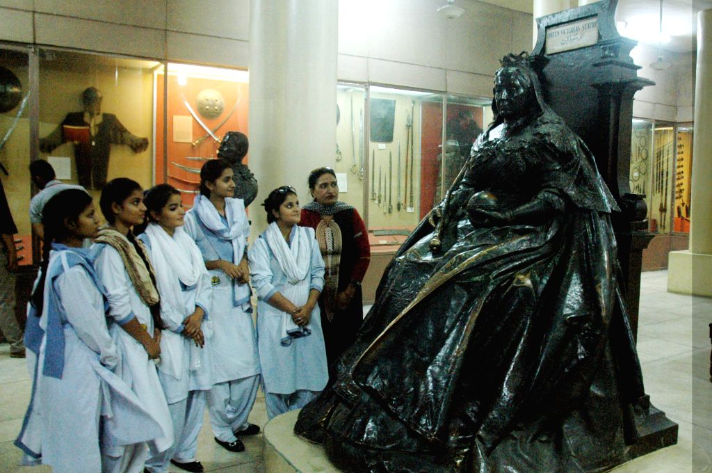 Students visit Lahore Museum on International Museum Day in eastern Pakistan's Lahore, May 18, 2015. Lahore Museum is one of the major museums of South Asia which ...