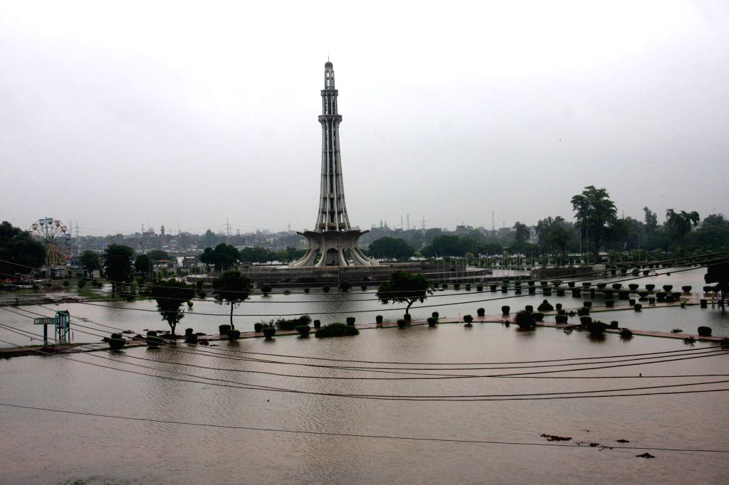 Flood water is seen after heavy rain in eastern Pakistan's Lahore, Sept. 4, 2014. At least 40 people were killed and dozens others injured in separate accidents ...