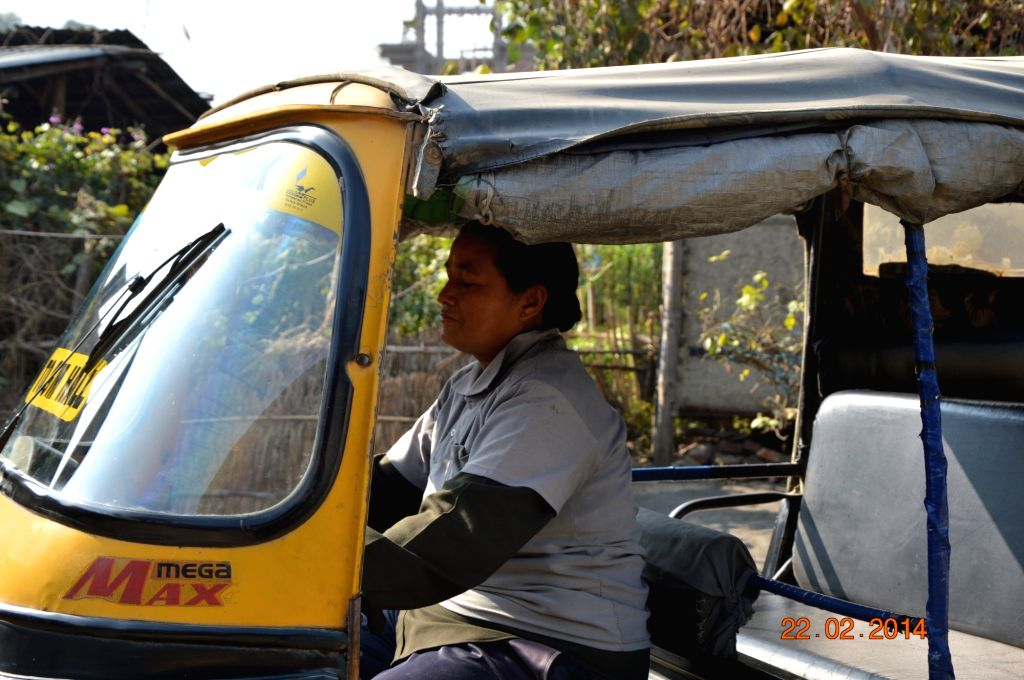 Laibi Oinam, who took up the job of an autodriver in 2011 to support her ailing husband and young sons, broke another glass ceiling for women without really knowing it.