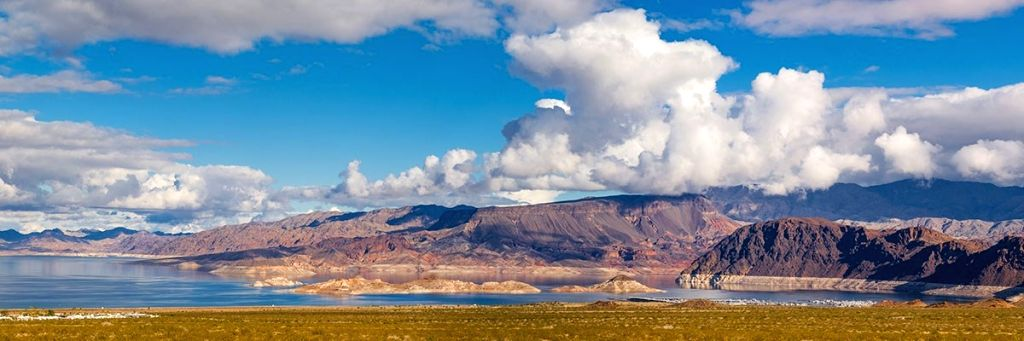 Lake Mead and Lake Powell, two of the largest reservoirs in US, hit lowest water levels amid megadrought.(Pic credit: https://utah.com/ ; https://www.nps.gov/lake)