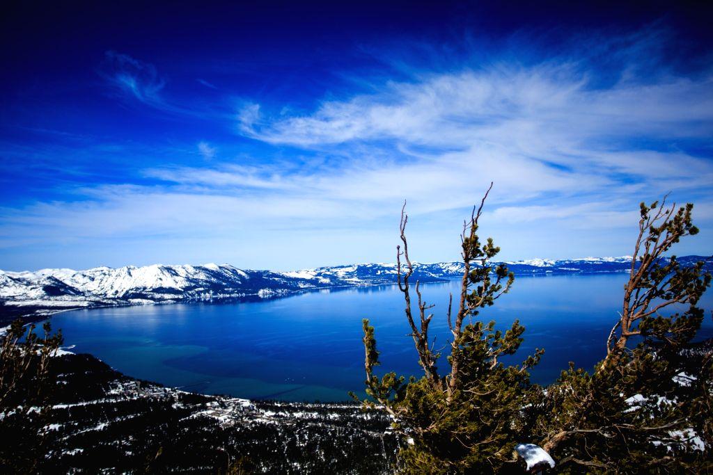 Lake Tahoe as seen from Heavenly Mountain Resort in South Lake Tahoe, California, March 9, 2017.