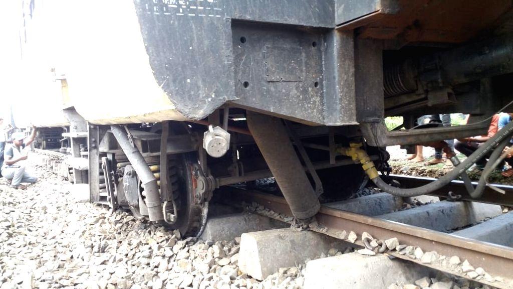 Lakhisarai: Derailed coaches of Patna-Jasidih (Dn) Passenger Train near Lakhisarai, Bihar on July 2, 2019. (Photo: IANS)