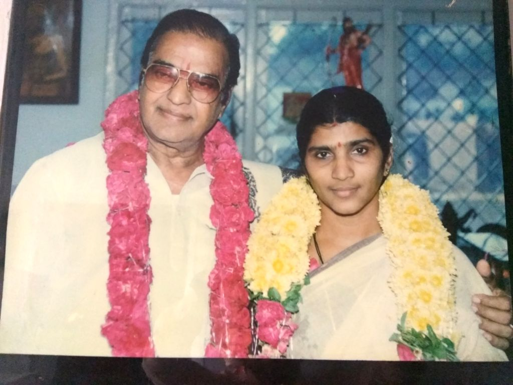 Lakshmi Parvathi with NTR after their marriage in 1993.