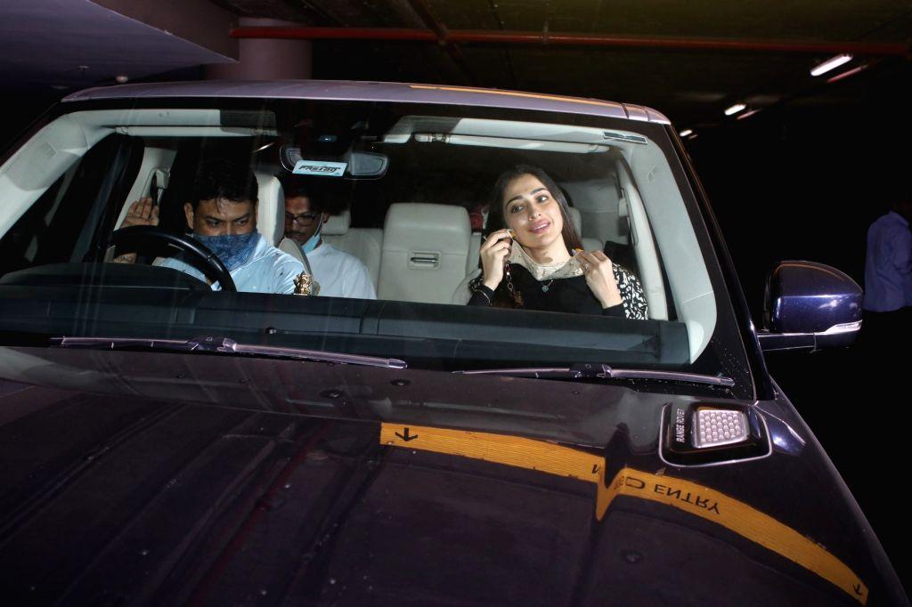 Lakshmi Rai Spotted at Airport Arrival in Mumbai on Thursday, 29 April, 2021. - Rai Spotted