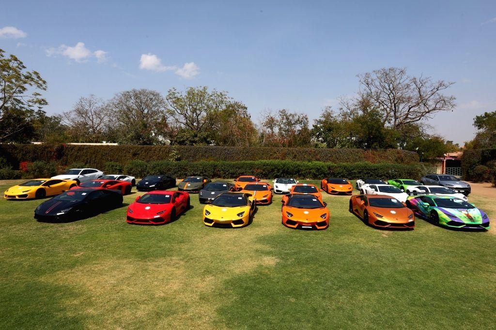 Lamborghini celebrates ten successful years in India with 'Lamborghini Day' in Jaipur on Feb 24, 2019.