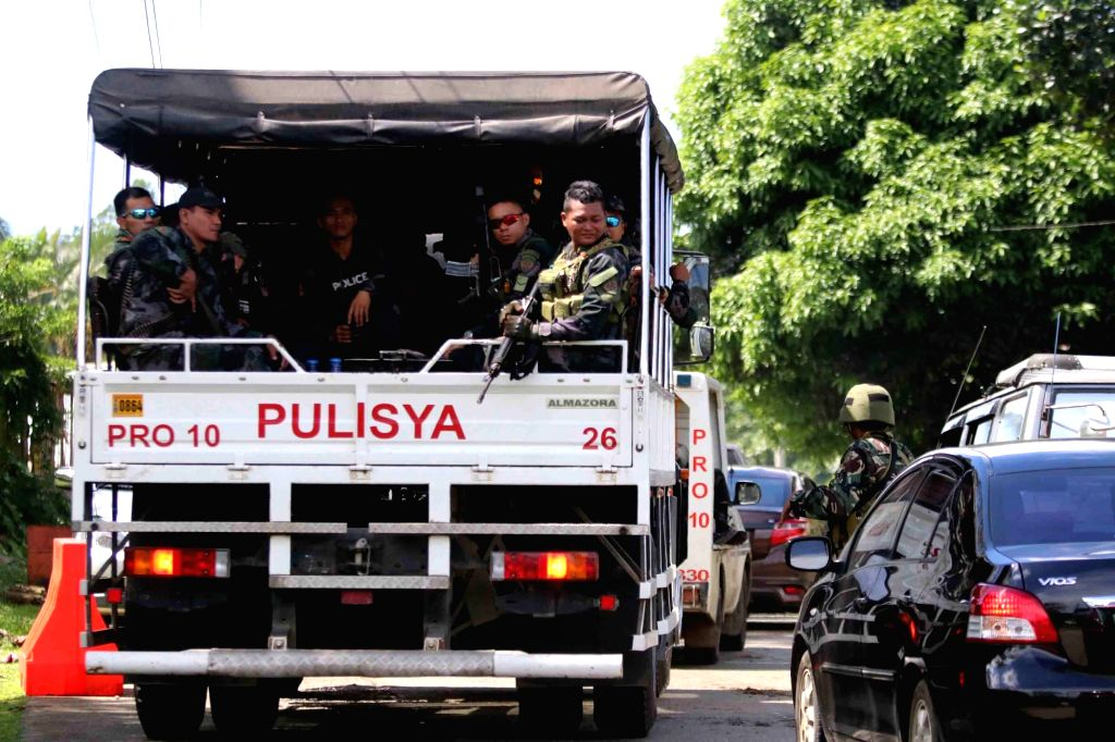 LANAO DEL SUR, May 24, 2017 - Members of the Philippine National Police-Special Action Force (PNP-SAF) are deployed at a checkpoint in Lanao Del Sur Province, the Philippines, May 24, 2017. ...