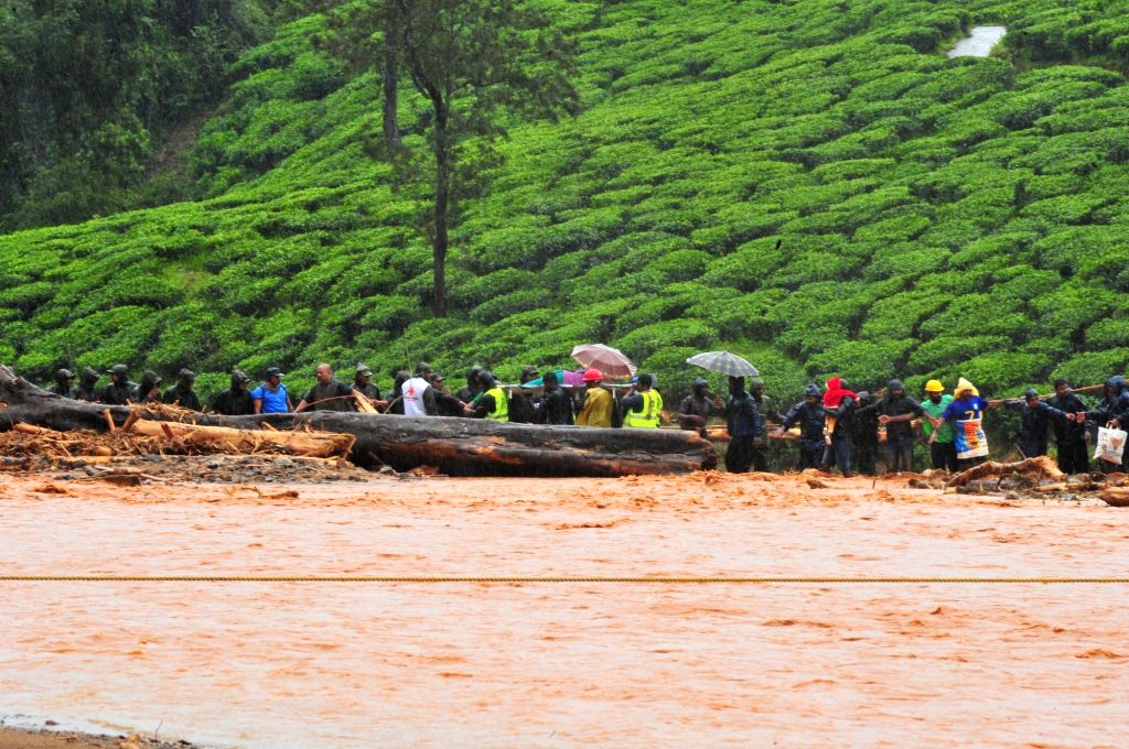 Landslide in Meppadi's Puthumala village in Wayanad of Kerala on Aug 9, 2019.