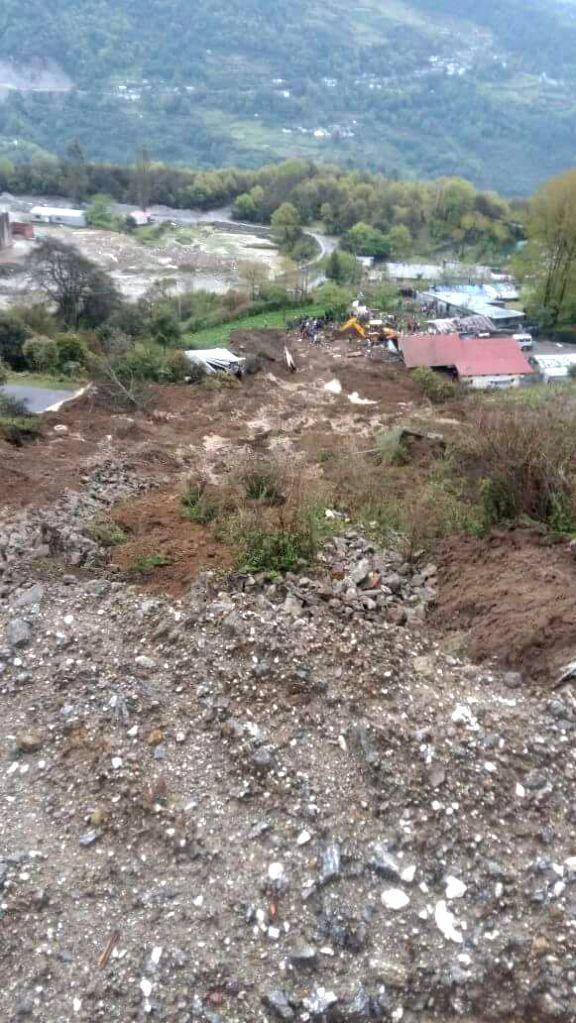 Landslide in Tawang