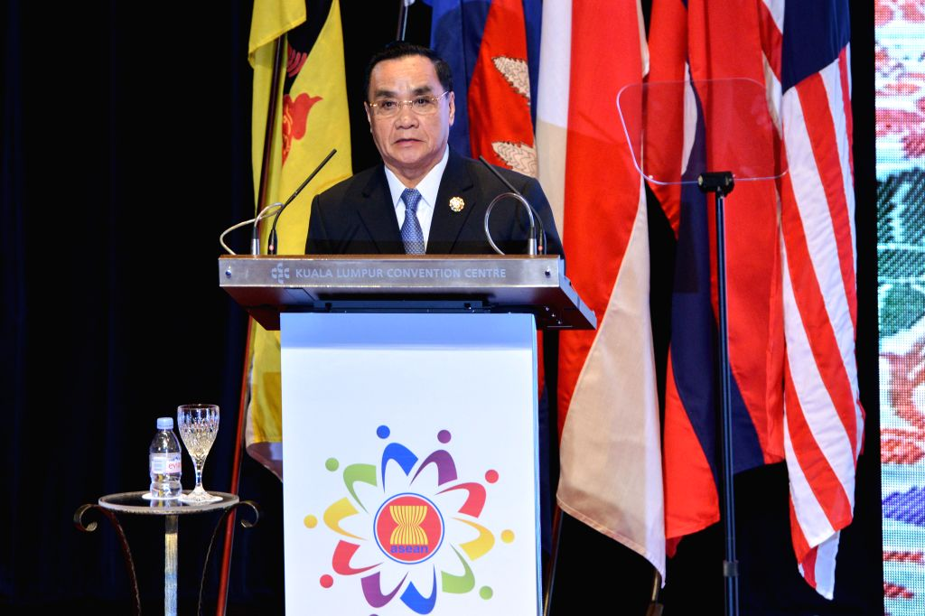 Laos Prime Minister Thongsing Thammavong speaks during the closing ceremony of the 27th Association of Southeast Asian Nations (ASEAN) Summit in Kuala Lumpur, ... - Thongsing Thammavong