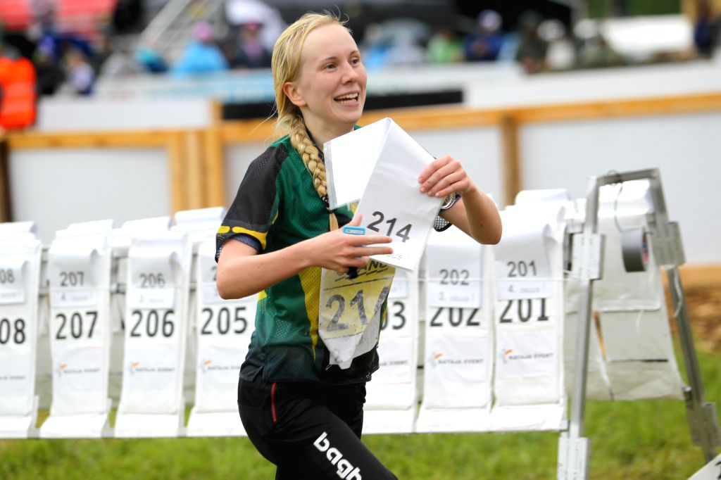 "LAPPEENRANTA, June 20, 2016 - An orienteering participant competes in the ""Venla"" Relay race at the 2016 ""Jukola"" Relay orienteering race in Lappeenranta, southern Finland, June ..."