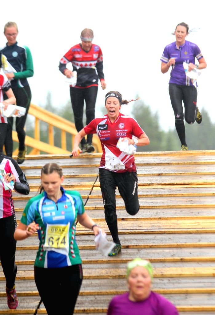 "LAPPEENRANTA, June 20, 2016 - Orienteering participants compete in the ""Venla"" Relay race at the 2016 ""Jukola"" Relay orienteering race in Lappeenranta, southern Finland, June 18, ..."