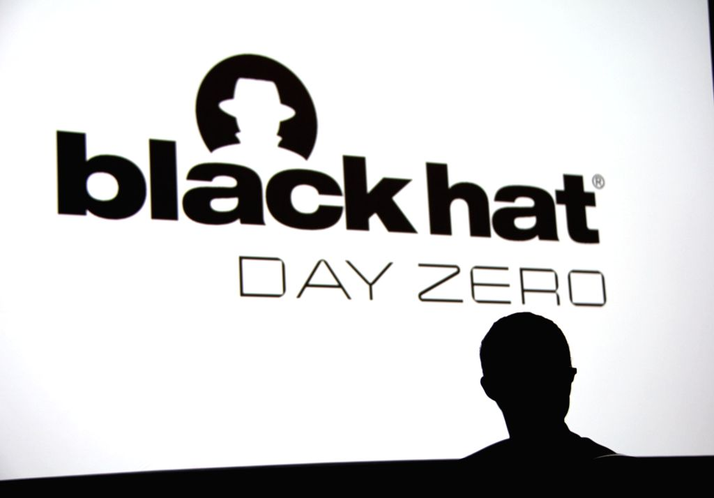 LAS VEGAS, Aug. 4, 2016 - An attendee sits in front of the stage at the Black Hat USA 2016 conference, in Las Vegas, the United States, on Aug. 3, 2016. Black Hat, built by and for the global InfoSec ...