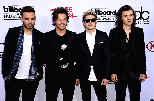 Las Vegas:  (L to R) Liam Payne, Louis Tomlinson, Niall Horan and Harry Styles members of boy band One Direction at the Billboard Music Awards 2015 in the MGM Grand Garden Arena, Las Vegas on May 17, 2015.