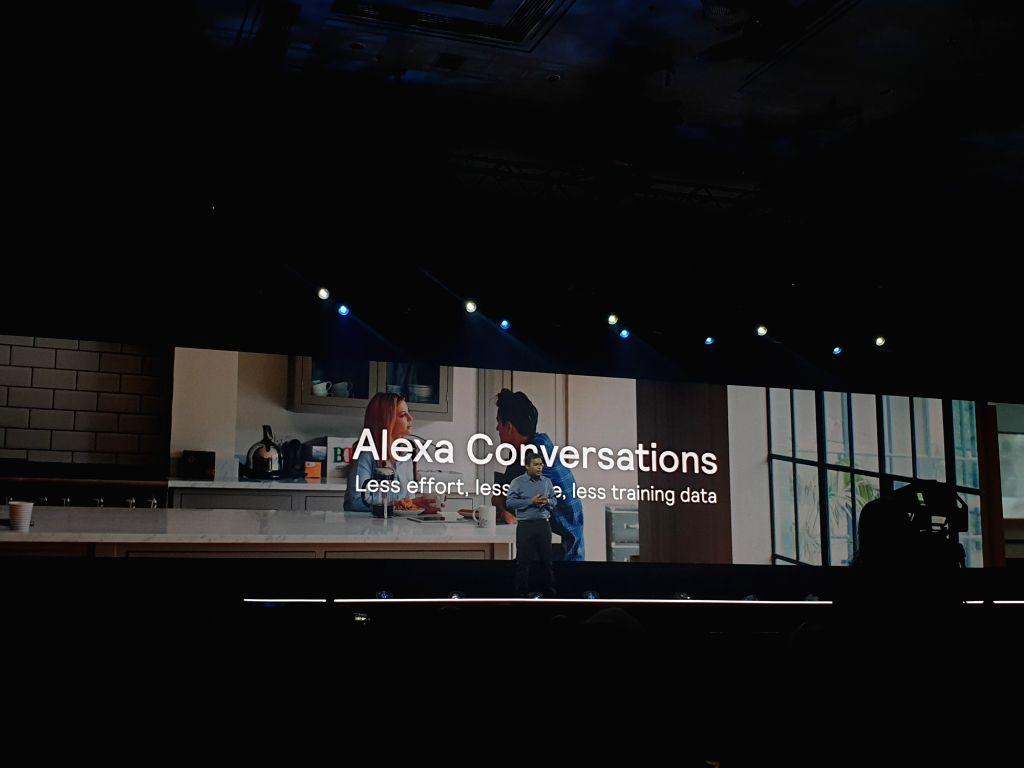 Las Vegas: Rohit Prasad, Alexa VP and Head Scientist, during his keynote address at Amazon re: Mars event in Las Vegas on June 5.