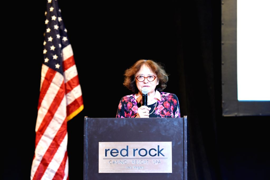 LAS VEGAS (U.S.), May 11, 2019 Cynthia Chennault, daughter of late U.S. General Claire Lee Chennault, addresses the opening ceremony of the 4th Sino-American Second World War Friendship ...