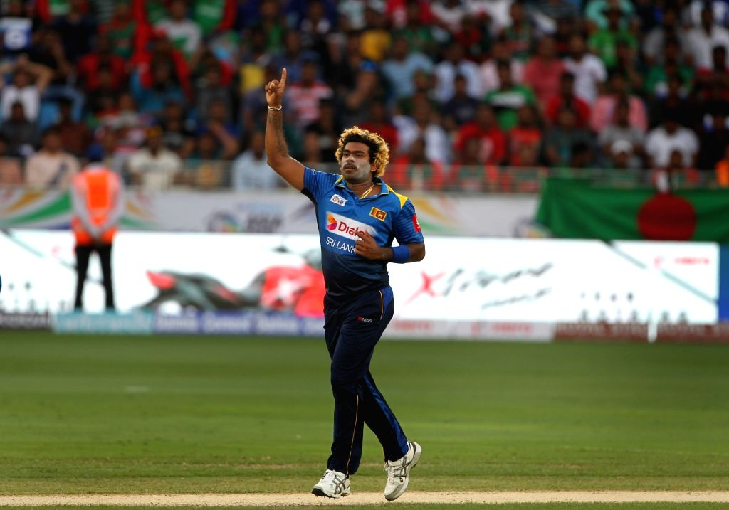 Lasith Malinga of Sri Lanka in action during Asia Cup 2018 Group B match between Bangladesh and Sri Lanka at Dubai International Cricket Stadium in Dubai, UAE on Sept 15, 2018.